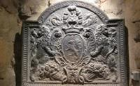 Plaque de cheminée aux armes de Nicolas Fouquet.
