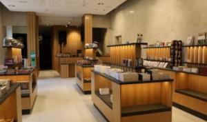 Photo représentant la nouvel espace billetterie-boutique du château.