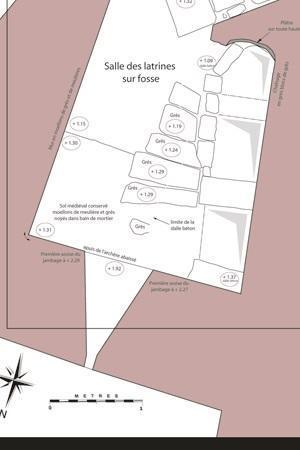 Plan des latrines de la tour des Archives