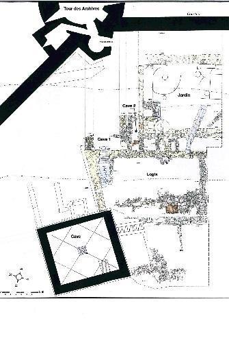 Plan de la cuisine du logis, des caves et du caniveau