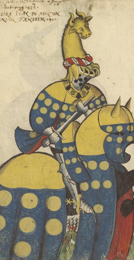 Représentation de Jean de Melun dans le Grand Armorial de la Toison d'Or