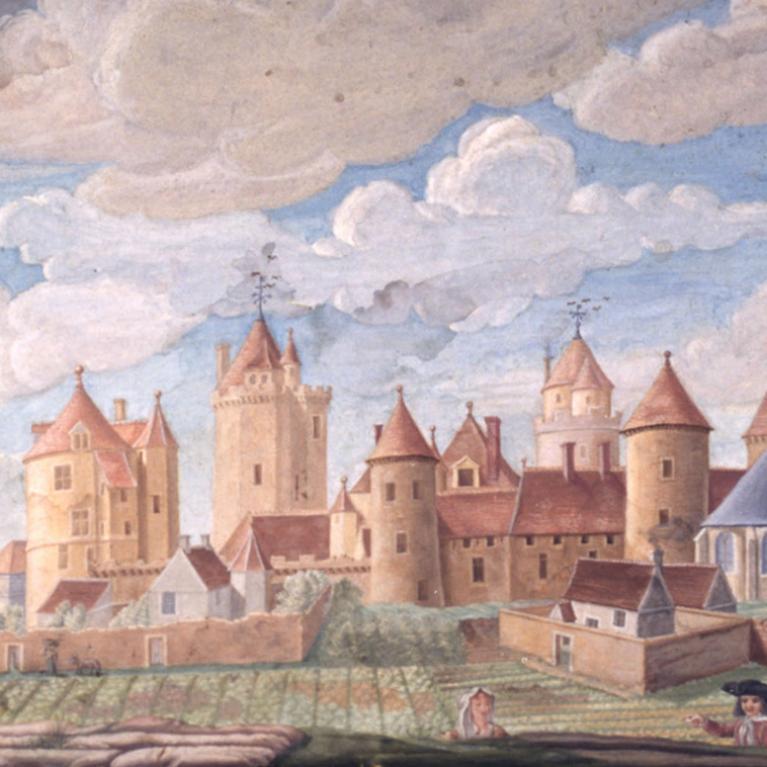 Vue du château de Blandy