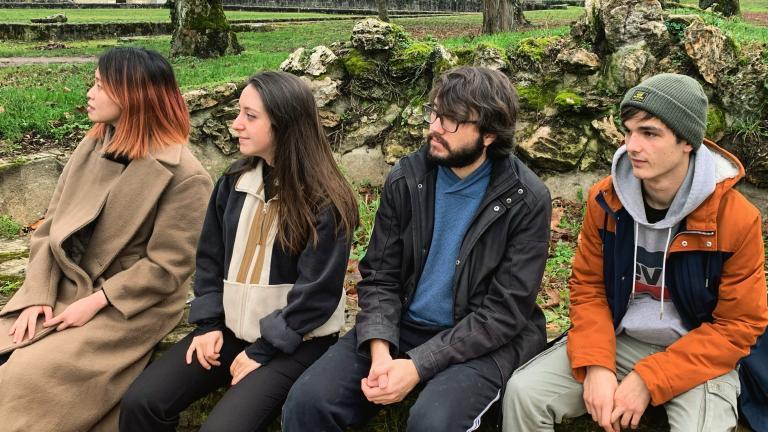 Photo des 4 musiciens Tiketê Quartet